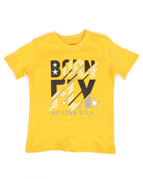 Born Fly - Panel Print Tee (2T-4T)
