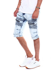 Buyers Picks - MARBLE WASH DENIM MOTO SHORT-2370147