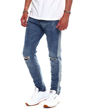 Buyers Picks - BLOWN OUT KNEE JEAN WITH DISTRESSED SEAM-2370750