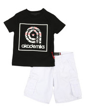 Sets - 2 Pc Tee & Twill Cargo Shorts Set (2T-4T)-2367756