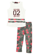 Girls - 2 Pc Sleeveless Top & Leggings Set (2T-4T)-2367792