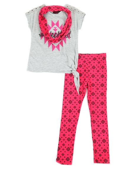 La Galleria - 2Pc Lace Insert Top & Leggings Set (4-6X)