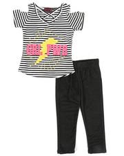 Girls - 2pc Cold Shoulder Top & Leggings Set (2T-4T)-2367796