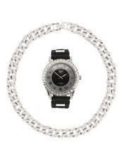 Accessories - Watch And Iced Out Cuban Necklace Gift-2367886