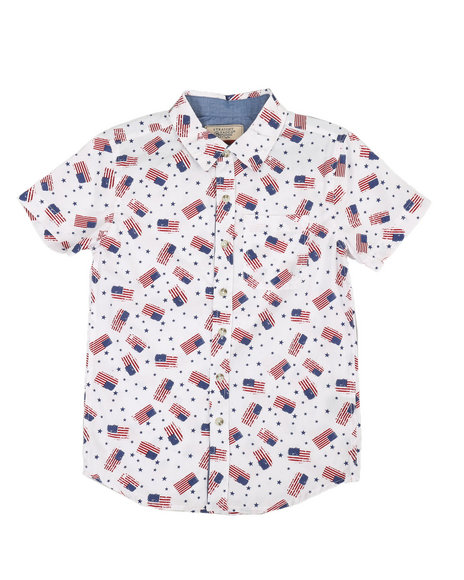 Arcade Styles - Americana Woven Shirt (8-18)
