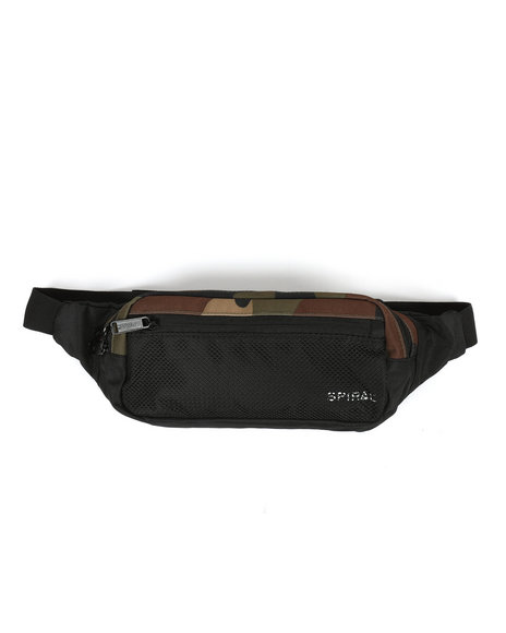 HXTN Supply - Spiral Woodland Camo Fanny Pack (Unisex)