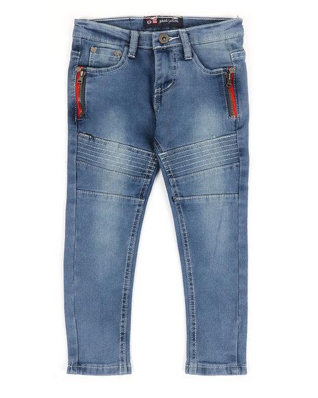 Phat Farm - Stretch Skinny Moto Denim Jeans (2T-4T)
