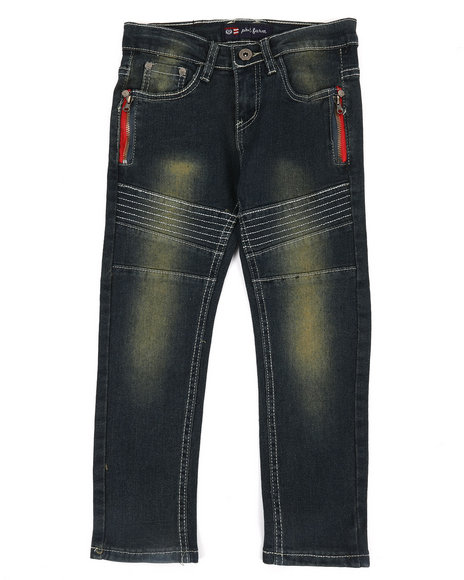 Phat Farm - Stretch Skinny Moto Denim Jeans (4-7)
