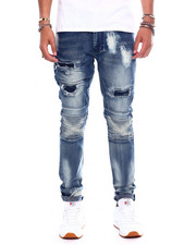 Buyers Picks - DISTRESSED CUT AND SEW STRETCH MOTO JEAN-2371209