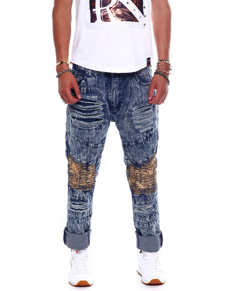 Buyers Picks - GOLD STAIN DISTRESSED MOTO JEAN