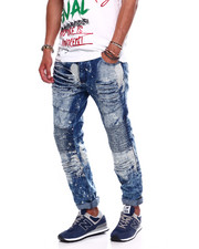Buyers Picks - BLEACHED SPLATTER DISTRESSED MOTO JEAN-2371429