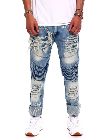Buyers Picks - BLEACHED OUT DISTRESSED MOTO JEAN