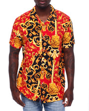 Button-downs - FILIGREE RED GOLD SS WOVEN SHIRT-2371795