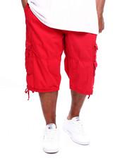 Big & Tall - Men's Twill Belted Cargo Short (B&T)-2369610