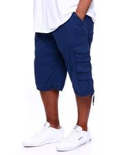 Big & Tall - Men's Twill Belted Cargo Short (B&T)-2369615