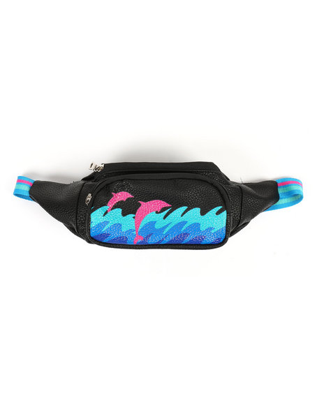Pink Dolphin - Waves Leather Sling Bag