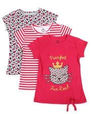 Girls - 3 PK Short Sleeve Tees (7-16)-2372200