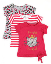 Sizes 2T-4T - Toddler - 3 PK Short Sleeve Tees (2T-4T)-2372196