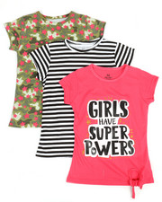 Girls - 3 PK Short Sleeve Tees (7-16)-2372188