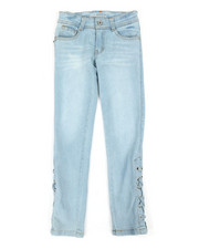 Dollhouse - Side Lace-Up Skinny Jeans (7-16)-2372231