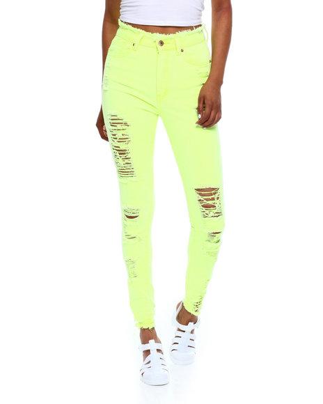 Fashion Lab - High Waist Ripped Skinny Jean