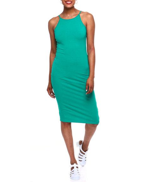 Fashion Lab - Spaghetti Strap Bodycon Midi Dress W/Scoop Back