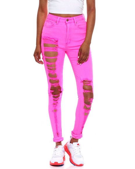 Fashion Lab - Heavy Destruction High Waist Skinny Jean
