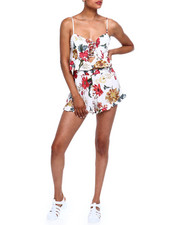 Women - Floral Ruffle Trim Set-2371666
