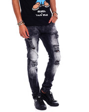 Copper Rivet - heavy premium wash jean with Rip Detail-2372983