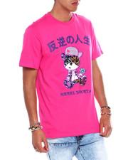 T-Shirts - Velour Gangster Tiger Tee w Rhinestones-2373157