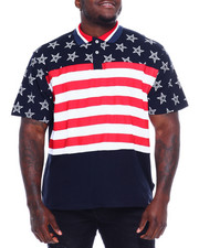SWITCH - Cut Block Stripe Print Polo W/Star Print (B&T)-2373569