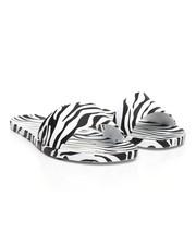 Fashion Lab - Animal Print Flat Slip-On Slide Sandals-2373961