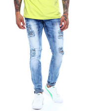 Copper Rivet - heavy premium wash jean with Rip  Detail-2373911