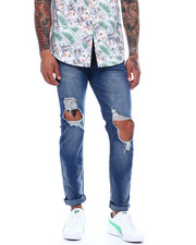 Men - Distressed Blown out Knee Jean-2373777