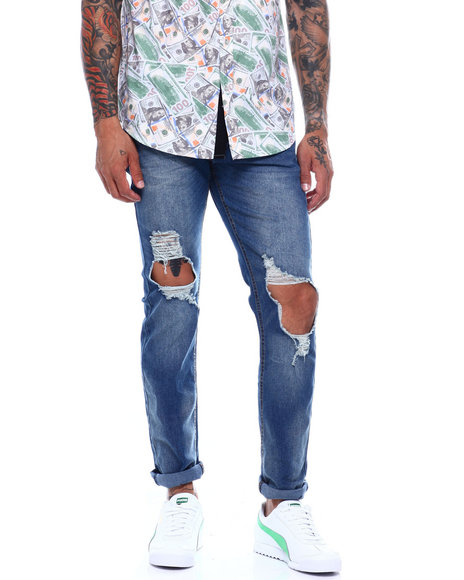 Buyers Picks - Distressed Blown out Knee Jean
