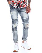 Jeans - BLEACH WASH DISTRESSED MOTO JEAN-2369874