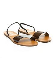 Fashion Lab - Transparent Design Open Toe Flat Sandals-2373744