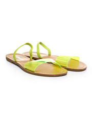 Fashion Lab - Transparent Design Open Toe Flat Sandals-2373757