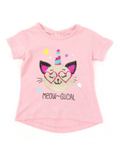 Sizes 2T-4T - Toddler - Bow Back Flip Sequin Tee (2T-4T)-2373468