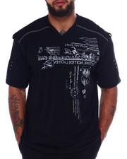 Big & Tall - Cut + Sew Tee W/Print + Zipper (B&T)-2375122
