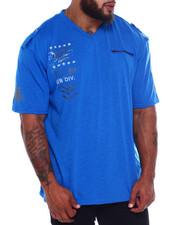 Big & Tall - Cut + Sew V-Neck S/S Tee (B&T)-2375085
