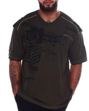 Big & Tall - Cut + Sew Tee W/Print + Zipper (B&T)-2375097