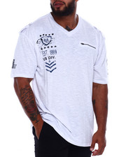 Short-Sleeve - Cut + Sew V-Neck S/S Tee (B&T)-2375131