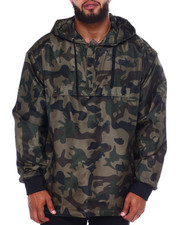 NOTHIN' BUT NET - All Over Camo Printed Anorak Flight Jckt (B&T)-2375296