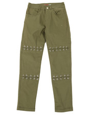Bottoms - Twill Pants W/ Lacing Detail (7-16)-2372727