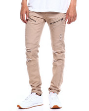 Jeans & Pants - TWILL MOTO PANT W ZIPPER AND RIPS-2375522