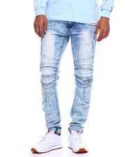 Jeans & Pants - Stretch Moto Jean w cut and Sew Detail-2375511