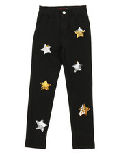 Bottoms - Twill Pants W/ Reversible Sequin Patches (2T-4T)-2372734