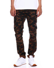 Jeans & Pants - TWILL MOTO PANT W ZIPPER AND RIPS-2375485