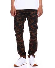 Pants - TWILL MOTO PANT W ZIPPER AND RIPS-2375485